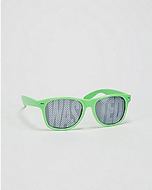 'Wasted' Green Classic Sunglasses
