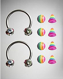 14 Gauge Multi Rainbow Horseshoe Set