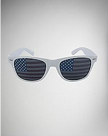 American Flag Sunglasses - White