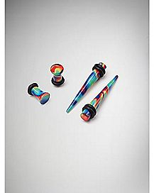 Rainbow Plug and Stretcher Taper Plug 4 Pack