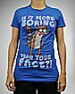 Regular Show Boring Face Junior Fitted Tee