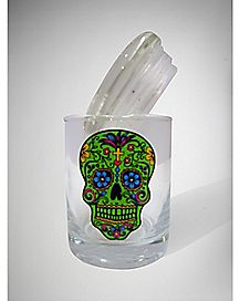 Rasta Skull Jar - Glass