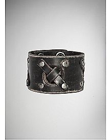 Black Vintage Cross Lace Cuff
