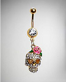 14 Gauge Bling Girly Skull Banana