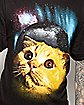 Wide Eye Cat In Space Tee