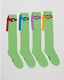 Mix & Match Knee High Socks 4 Piece - TMNT