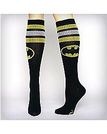 Athletic Stripe Batman  Knee High Socks
