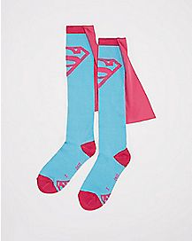 Caped Supergirl Knee High Socks -  DC Comics