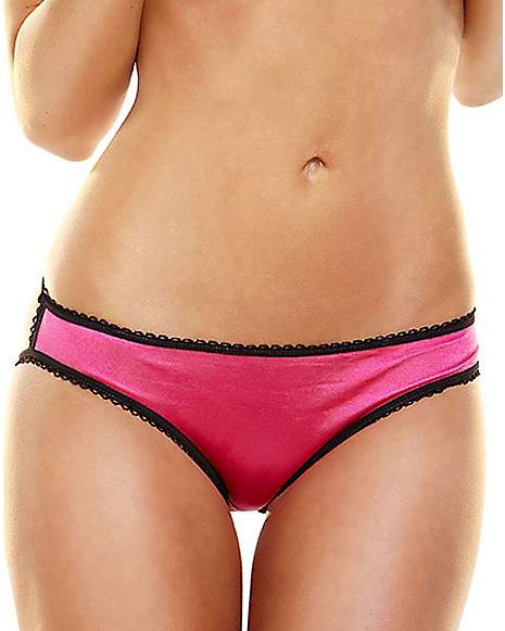 Pink Panties Black Trim 56