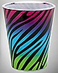 3 oz. Multi Color Zebra Shot Glass