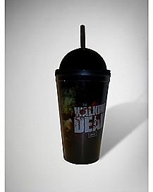 The Walking Dead Zombie Cup With Straw 16 oz