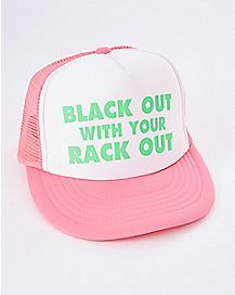 Black Out With Your Rack Out Trucker Hat