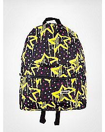 Black with Glow in the Dark Drippy Stars Backpack