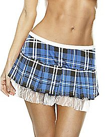 Plaid Petticoat Blue and White