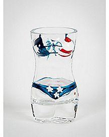 USA Babe Bikini Shot Glass