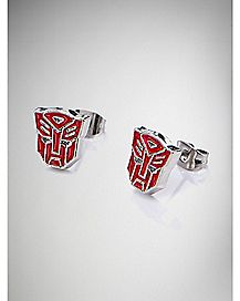 Autobot Transformers Stud Earrings - Red