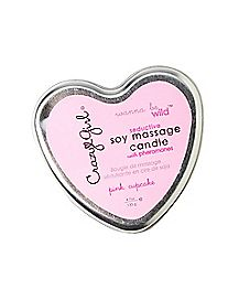 Wanna Be Wild Soy Pink Cupcake Soy Massage Candle - 4.7 oz.