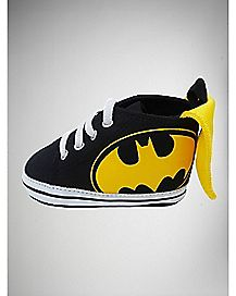 Caped High Top Baby Shoes - DC Comics