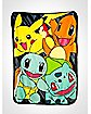 Classic Group Pokemon Fleece Blanket