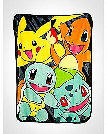 Classic Group Pokemon Fleece Blanket