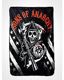 Star & Stripes Logo Sons of Anarchy Fleece Blanket