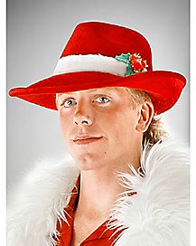 Red Christmas Fedora