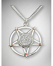 Double Pentagram Necklace