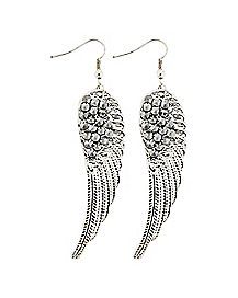 Spike Wing Dangle Earrings