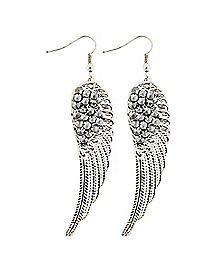 Spike Wing Dangle Earrings