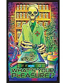 What's Your Pleasure Blacklight Poster