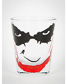Batman The Joker Face Clear Shot Glass
