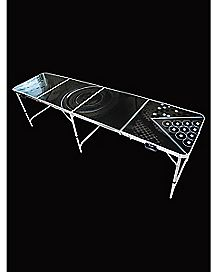 Light up Rack Beer Pong Table - 8 ft