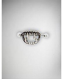 Fang Nipple Shield Barbell - 14 Gauge
