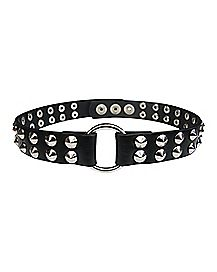 Black Small Spike Collar