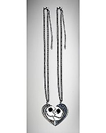 Broken Heart Nightmare Before Christmas Necklace