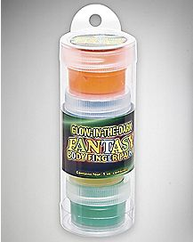 Glow-In-The-Dark Fantasy Body Finger Paint 4 Pack