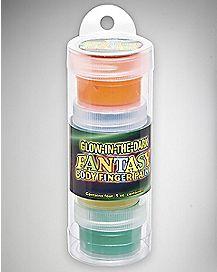 Glow-In-The-Dark Fantasy Body Finger Paint 4 Pack