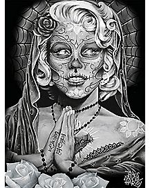 Grey Roses Day of the Dead Poster