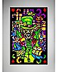 Mad Hatter Collage Blacklight Poster