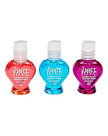 Lickable Lover's Massage Lotion 3 Pk - Hott Love