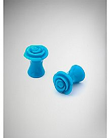 Turquoise-Effect Rose Plugs