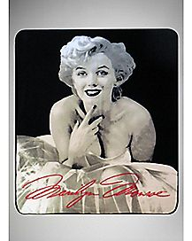 White Dress Marilyn Monroe Fleece Blanket