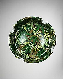 Camouflage Pot Leaf Ashtray - Stone