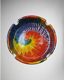 Tie Dye Print Ashtray - Stone