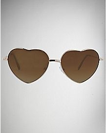 Heart Metal Frame Sunglasses
