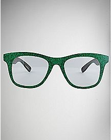 Green Glitter Pretender Glasses