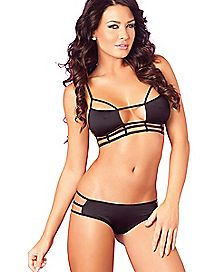 Triangle Cage Bra and Panties Set