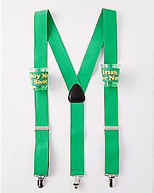 Buy Me a Shot St Patricks Day Shotglass Suspenders