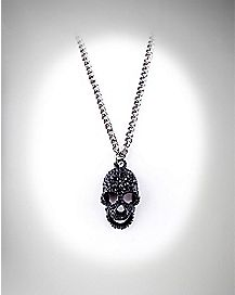 Black Skull Chain Necklace