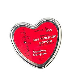 Wanna Be Wild Soy Strawberries And Champagne Soy Massage Candle - 4.7 oz.